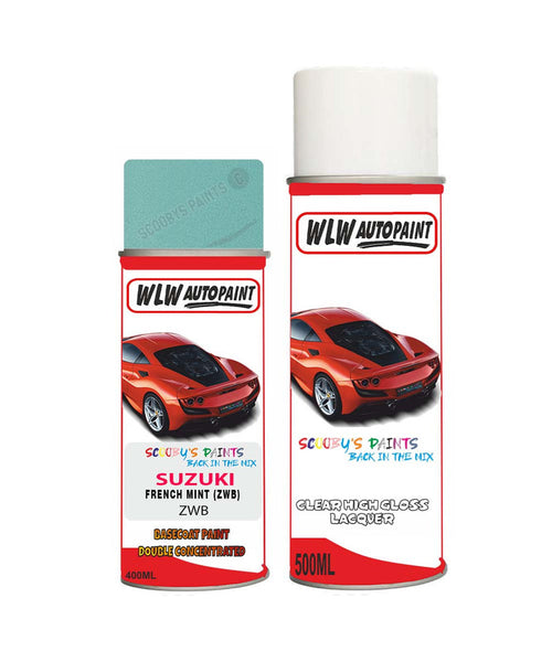 Suzuki Spacia French Mint Zwb Car Aerosol Spray Paint With Lacquer 2015-2015