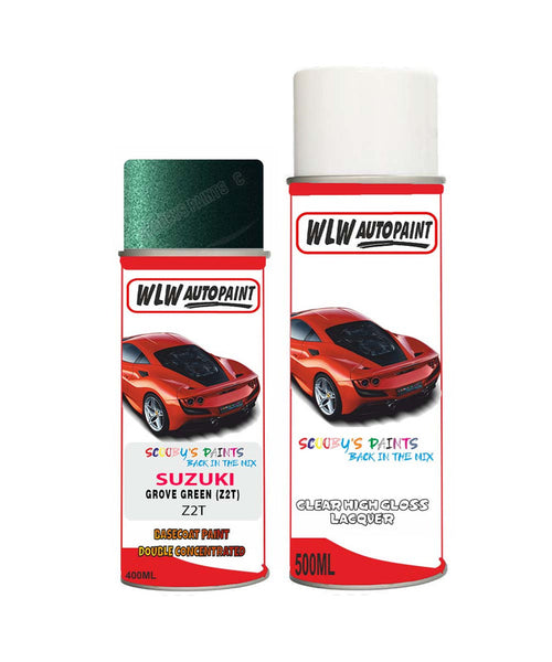 Suzuki Xl7 Grove Green Z2T Car Aerosol Spray Paint + Lacquer