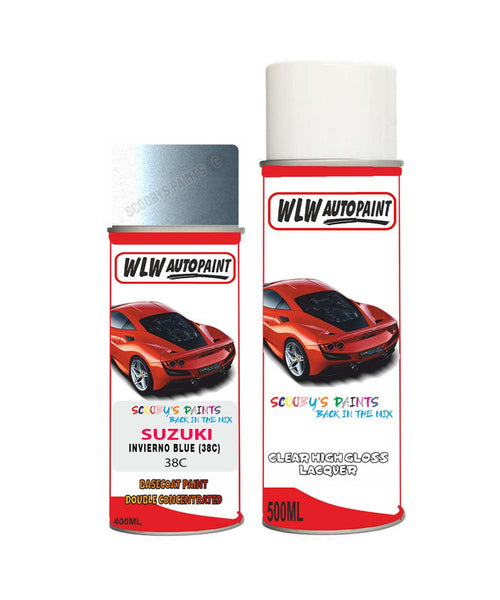 Suzuki Super Carry Invierno Blue 38C Car Aerosol Spray Paint + Lacquer