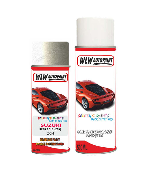 Suzuki Cultus Keen Gold Z0N Car Aerosol Spray Paint With Lacquer 1997-2002