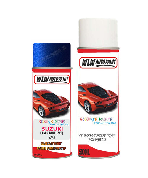 Suzuki Xl7 Laser Blue Zv3 Car Aerosol Spray Paint + Lacquer