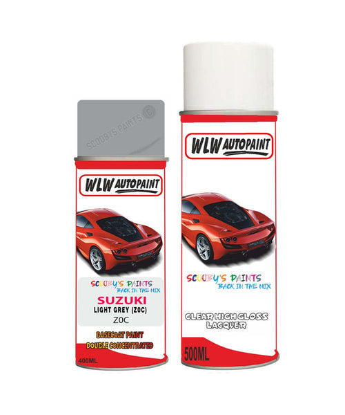Suzuki Xl7 Light Grey Z0C Car Aerosol Spray Paint + Lacquer