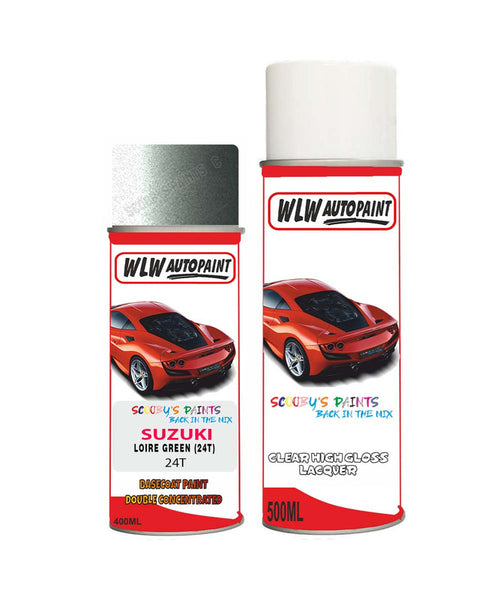Suzuki Super Carry Loire Green 24T Car Aerosol Spray Paint With Lacquer 1990-1996