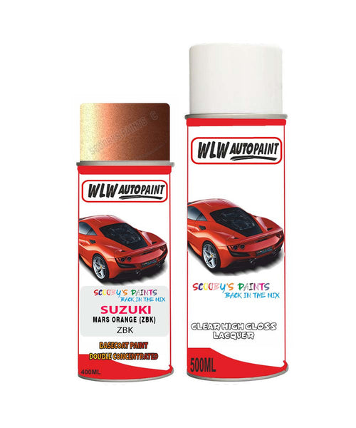 Suzuki Apv Mars Orange Zbk Car Aerosol Spray Paint + Lacquer