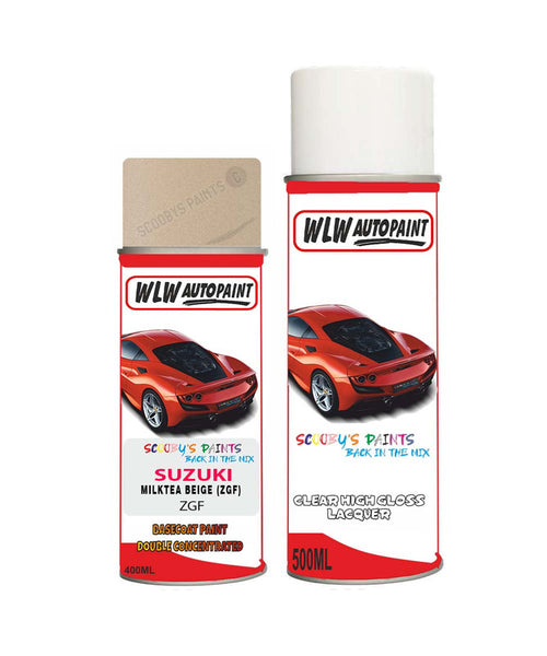 SUZUKI LAPIN MILKTEA BEIGE ZGF Car Aerosol Spray Paint With Lacquer 2006-2016