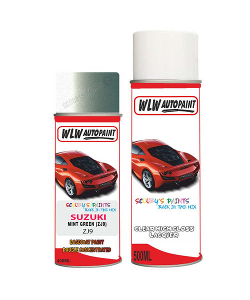 SUZUKI LAPIN MINT GREEN ZJ9 Car Aerosol Spray Paint With Lacquer 2002-2007