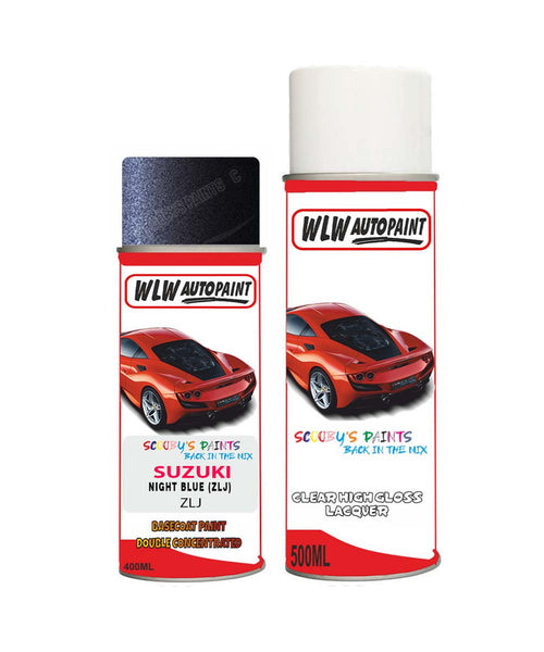 Suzuki Apv Night Blue Zlj Car Aerosol Spray Paint + Lacquer