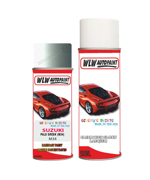 Suzuki Solio Pale Green M34 Car Aerosol Spray Paint + Lacquer