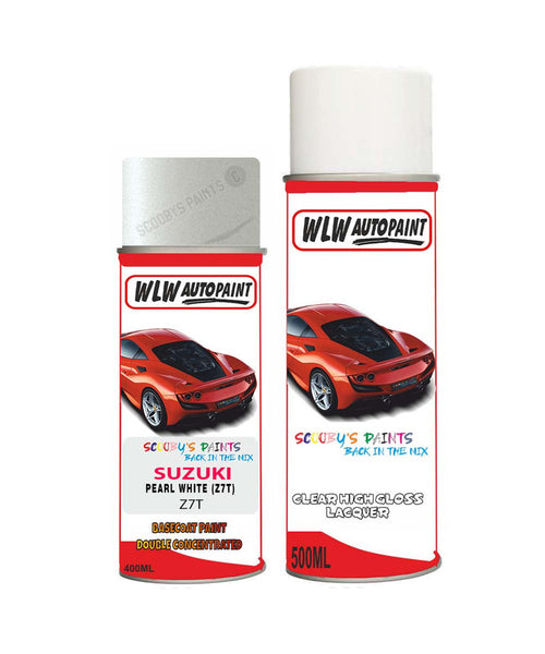 Suzuki Solio Pearl White Z7T Car Aerosol Spray Paint + Lacquer