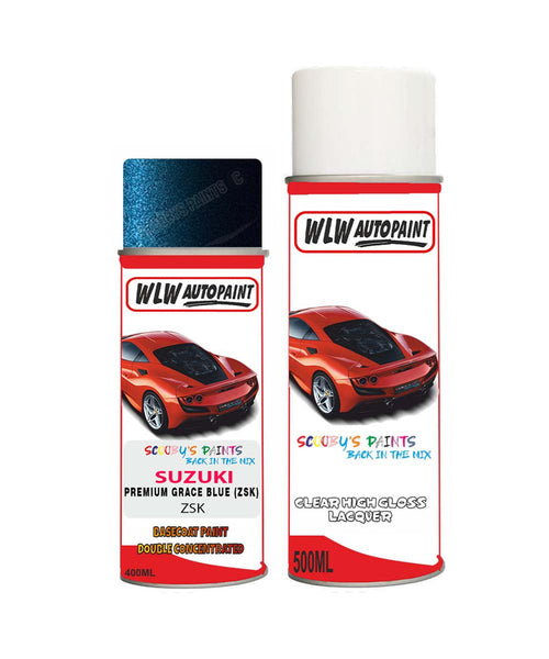 Suzuki Solio Premium Grace Blue Zsk Car Aerosol Spray Paint + Lacquer