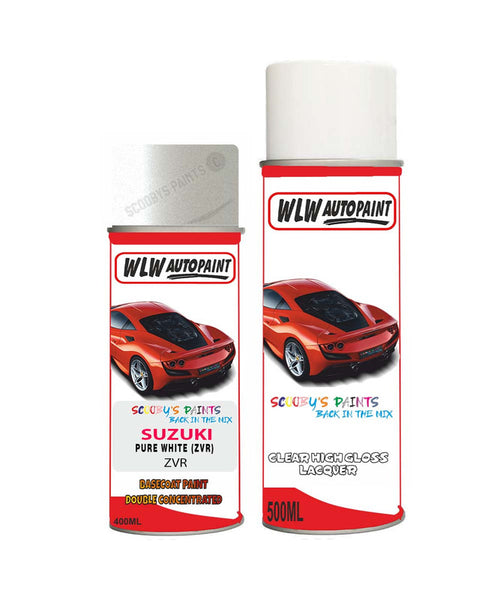 Suzuki Solio Pure White Zvr Car Aerosol Spray Paint + Lacquer