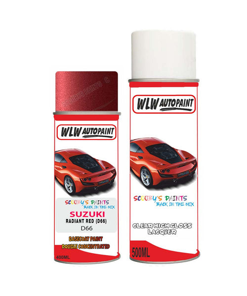 Suzuki Apv Radiant Red D66 Car Aerosol Spray Paint + Lacquer