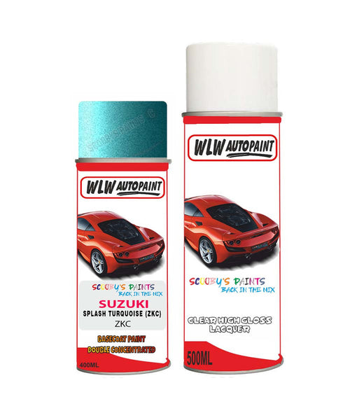 Suzuki Sx4 Splash Turquoise Zkc Car Aerosol Spray Paint With Lacquer 2008-2012
