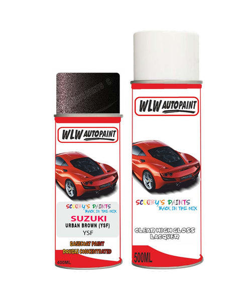 Suzuki Solio Urban Brown Ysf Car Aerosol Spray Paint + Lacquer