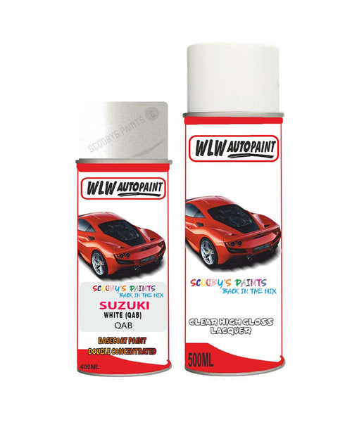 Suzuki Kizashi White Qab Car Aerosol Spray Paint With Lacquer 2011-2017