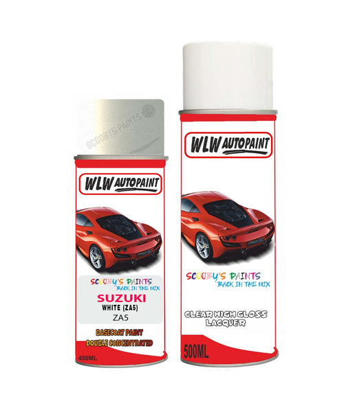 Suzuki Xl7 White Za5 Car Aerosol Spray Paint + Lacquer