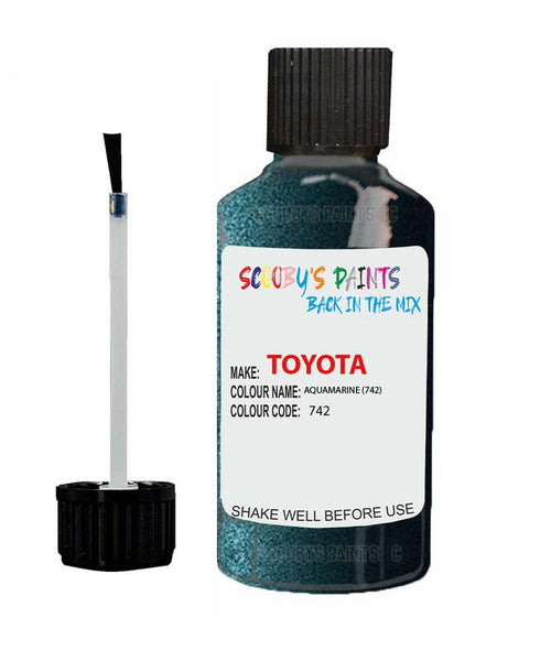Toyota Car Touch Up Paint Aquamarine 742 Scratch Repair Kit