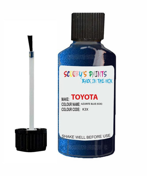 Toyota Car Touch Up Paint Azurite Blue K3X Scratch Repair Kit