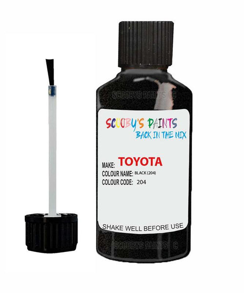 Toyota Car Touch Up Paint Black 204 Scratch Repair Kit