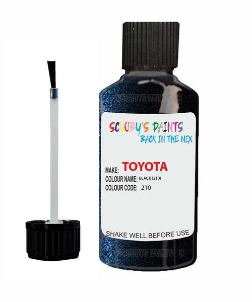 Toyota Celica Black Code 210 Touch Up paint