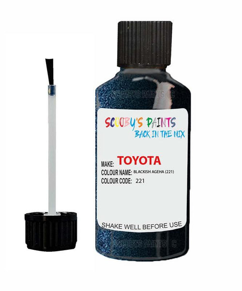 Toyota Car Touch Up Paint Blackish Ageha 221 Scratch Repair Kit