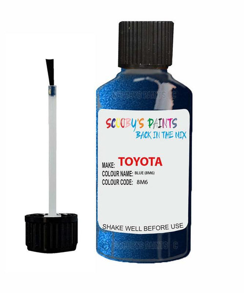 Toyota Car Touch Up Paint Blue 8M6 Scratch Repair Kit
