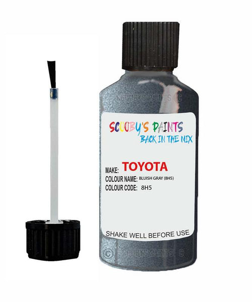 Toyota Car Touch Up Paint Bluish Gray 8H5 Scratch Repair Kit