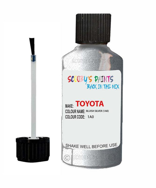 Toyota Car Touch Up Paint Bluish Silver 1A0 Scratch Repair Kit