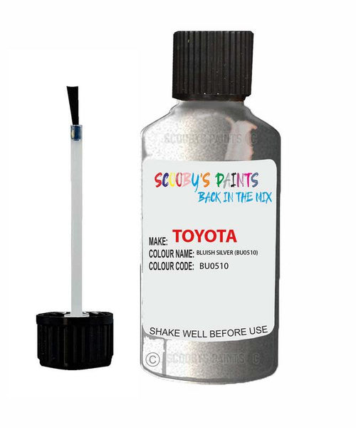 Toyota Car Touch Up Paint Bluish Silver Bu0510 Scratch Repair Kit