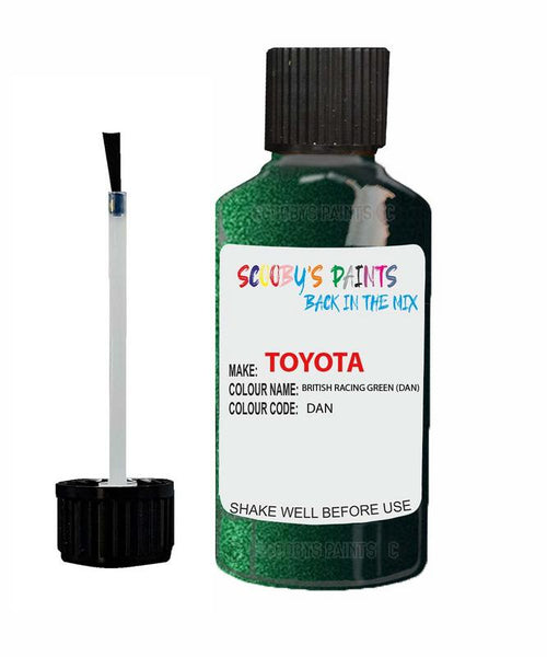 Toyota Car Touch Up Paint British Racing Green Dan Scratch Repair Kit