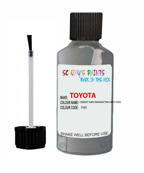 Toyota Car Touch Up Paint Cement Grey Manhattan Grey 1H5 Scratch Repair Kit