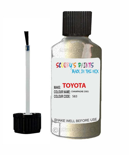 Toyota Car Touch Up Paint Champagne 583 Scratch Repair Kit