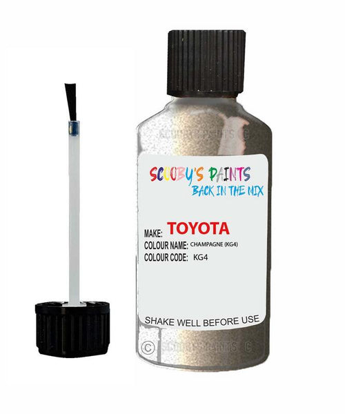 Toyota Car Touch Up Paint Champagne Kg4 Scratch Repair Kit