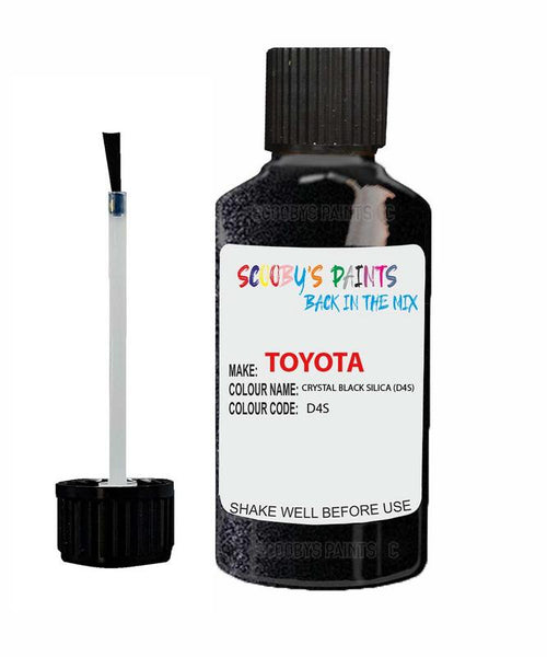 Toyota Car Touch Up Paint Crystal Black Silica D4S Scratch Repair Kit