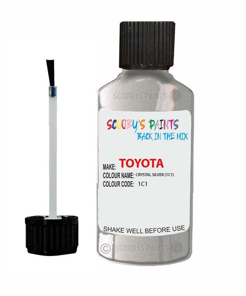 Toyota Car Touch Up Paint Crystal Silver 1C1 Scratch Repair Kit
