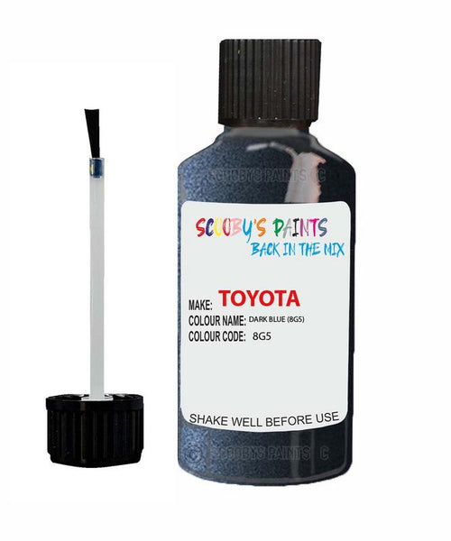 Toyota Car Touch Up Paint Dark Blue 8G5 Scratch Repair Kit