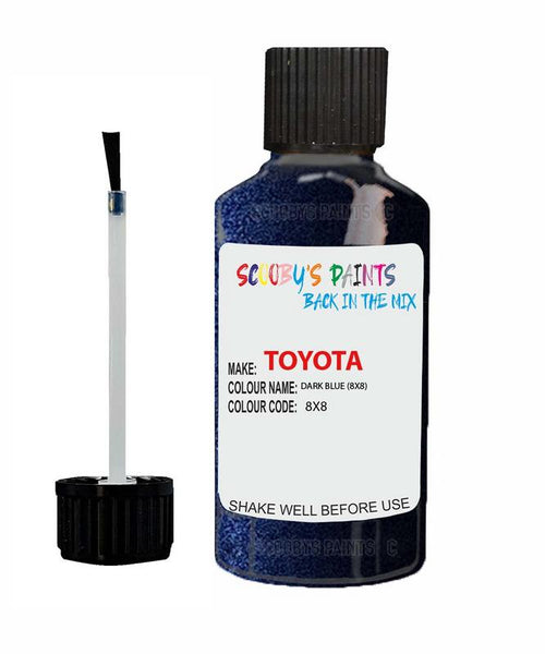 Toyota Car Touch Up Paint Dark Blue 8X8 Scratch Repair Kit