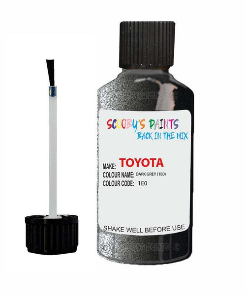 Toyota Car Touch Up Paint Dark Grey 1E0 Scratch Repair Kit