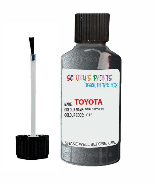 Toyota Car Touch Up Paint Dark Grey C13 Scratch Repair Kit