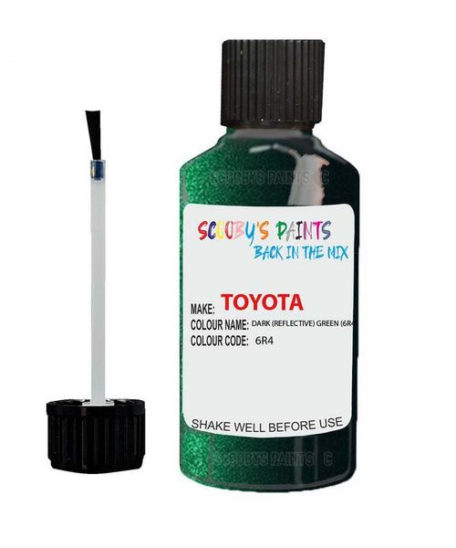 Toyota Car Touch Up Paint Dark Reflective Green 6R4 Scratch Repair Kit