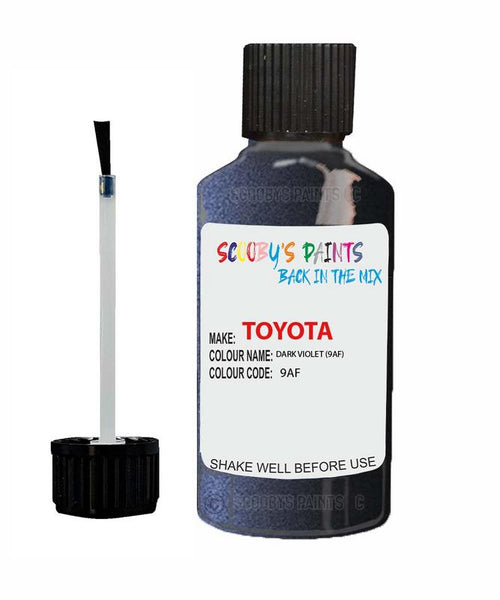 Toyota Car Touch Up Paint Dark Violet 9Af Scratch Repair Kit