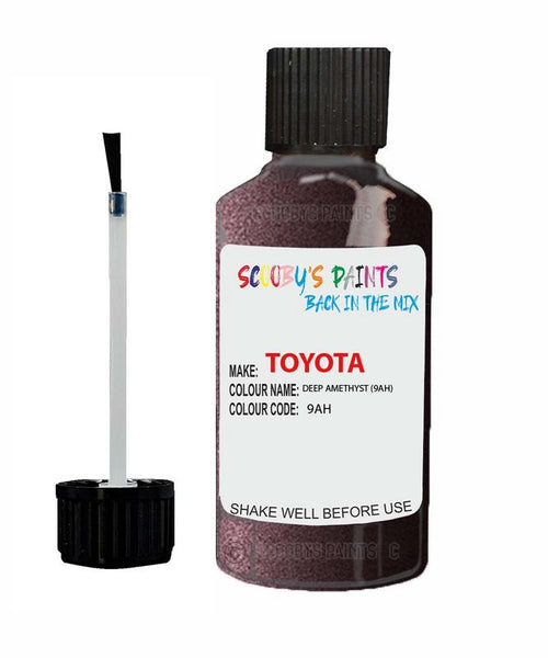 Toyota Car Touch Up Paint Deep Amethyst 9Ah Scratch Repair Kit