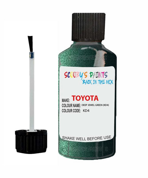 Toyota Car Touch Up Paint Deep Jewel Green Kd4 Scratch Repair Kit