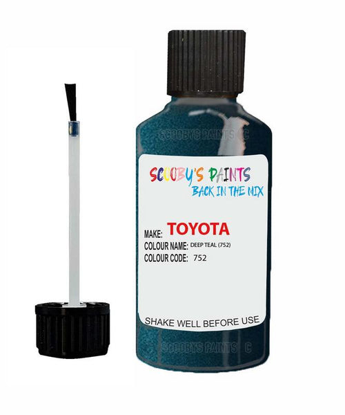 Toyota Car Touch Up Paint Deep Teal 752 Scratch Repair Kit
