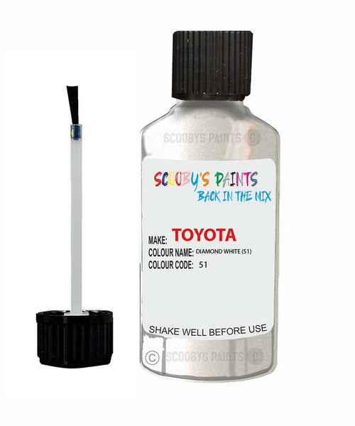 toyota supra diamond white code 51 touch up paint 1990 2004 Scratch Stone Chip Repair