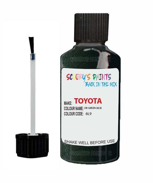 Toyota Car Touch Up Paint Dk Green 6L9 Scratch Repair Kit