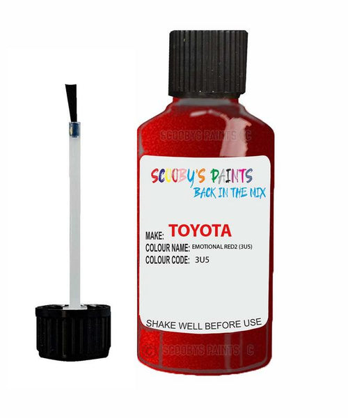 Toyota Car Touch Up Paint Emotional Red23U5 Scratch Repair Kit