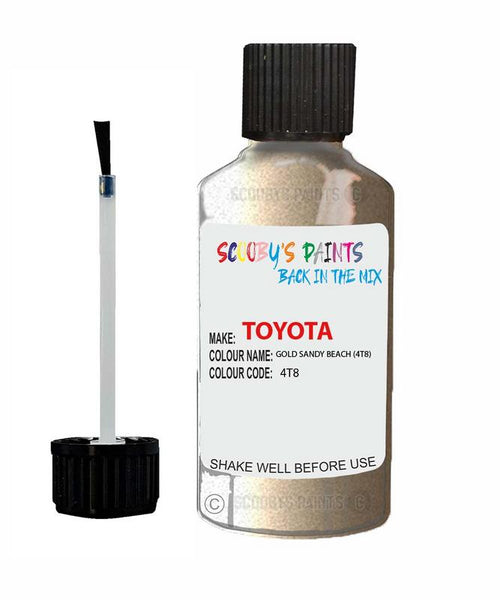 Toyota Car Touch Up Paint Gold Sandy Beach 4T8 Scratch Repair Kit