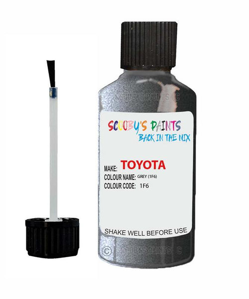 Toyota Car Touch Up Paint Grey 1F6 Scratch Repair Kit