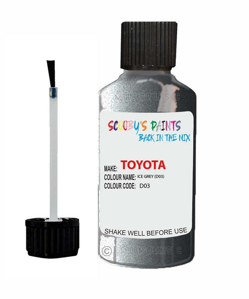 Toyota Car Touch Up Paint Ice Grey D03 Scratch Repair Kit